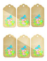 6 Flower Tags41-Download-ClipArt-ArtClip-Digital Tags-Digital - $3.99