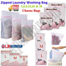 3/6/9/12/18 Zipped Laundry Washing Bag Mesh Net Washing Machine Bags for... - $4.74+