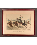 """Currier & Ives  """"Bound To Shine! (Or a (blacking) Brush on the Road."""" li... - $449.10"""