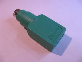 USB Female to PS2 Male Mouse PC IBM Computer Adapter Green MS - Used Qty 1 - $4.27