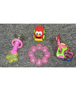 Lot Of Infant Chew Toys Pink Girls  - $6.90