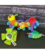 Sassy Plush Caterpillar Baby Toy Crib Hanging Magnetic Mirror Rattle Inf... - $9.90