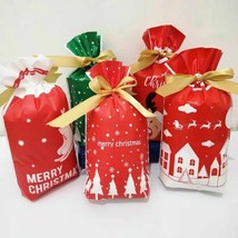 New Christmas Candy Merry Christmas Decorations Santa Claus Tree Gift Ba... - $8.90