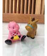Bakery Crafts Cute Baby Farm Animals Cake Topper Horse & Pig Two inches ... - $8.15