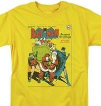 Batman Santa T-shirt comic book retro 80s cartoon DC gold Christmas tee DCO738 image 1