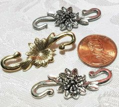 FLOWER S HOOK FINE PEWTER TOGGLE - 15x38x5mm image 3