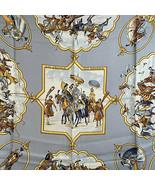 Authentic Hermes Paris Silk Scarf Les Chevaux des Moghols 1993 De Fouger... - $306.90