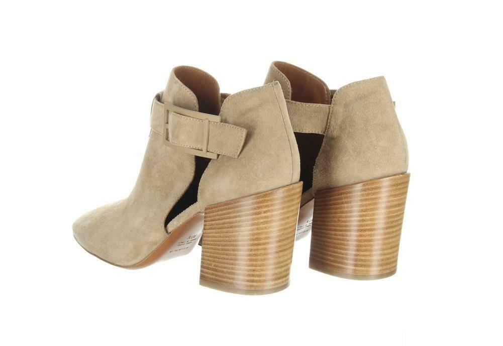 Aquatalia Women's Suede Cutout Booties Tan Ankle Boots Booties Sz. 10.5. image 5