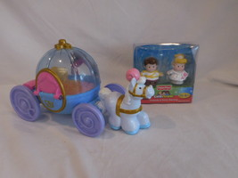 Little People Disney Princess Cinderella Musical Carriage + New Princess... - $24.02