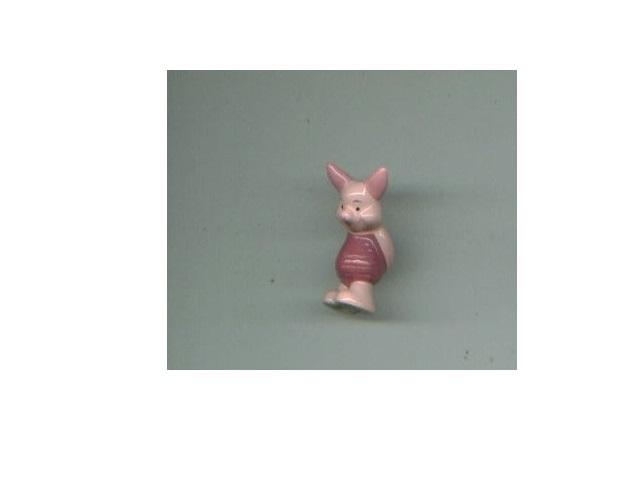 Walt Disney ceramic figurines Donald Duck + 101 DALMATIANS PONGO + Piglet