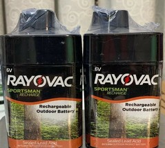 Rayovac Sportsman Recharge 6V Rechargeable Outdoor Battery x2 New - $22.77