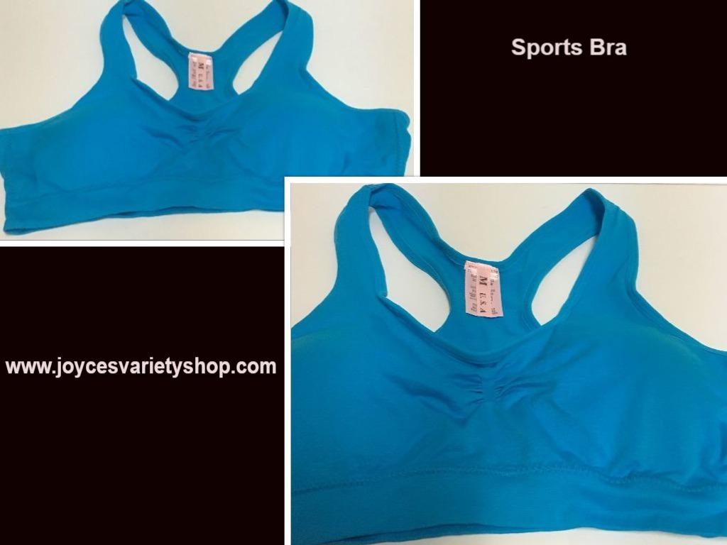 Blue sports bra web collage