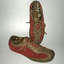 Teva Womens sz 8 Keagan Red Tan Athletic Suede Leather Sport Shoe Rubber... - $47.52