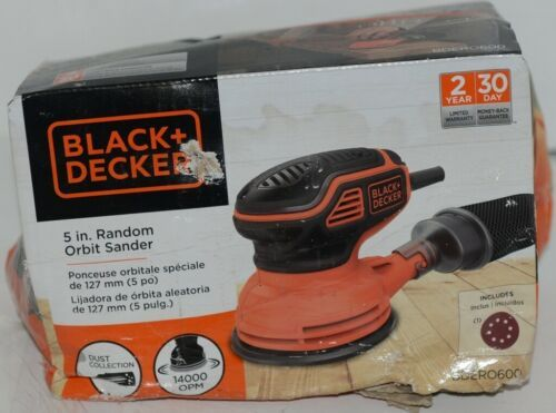 Black Decker BDERO600 5 Inch Random Orbit Sander Orange Black CORDED
