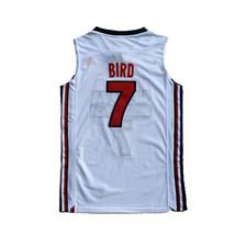 1992 Barcelona Larry Bird #7 USA Basketball Jerseys Double Stitched White - $35.00