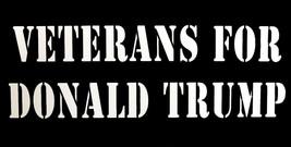 Wholesale Lot of 6 Veterans For Donald Trump Black White Decal Bumper Sticker - $13.88