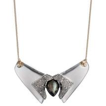 ALEXIS BITTAR Silver Lucite Bib NECKLACE - $165.00
