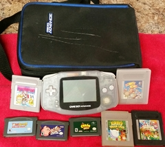 Nintendo, Gameboy Advance Console with 7 Games and Case. Vintage, Preowned - $58.00
