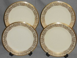 Set (4) Lenox TUSCANY PATTERN Salad Plates MADE IN USA - $79.19