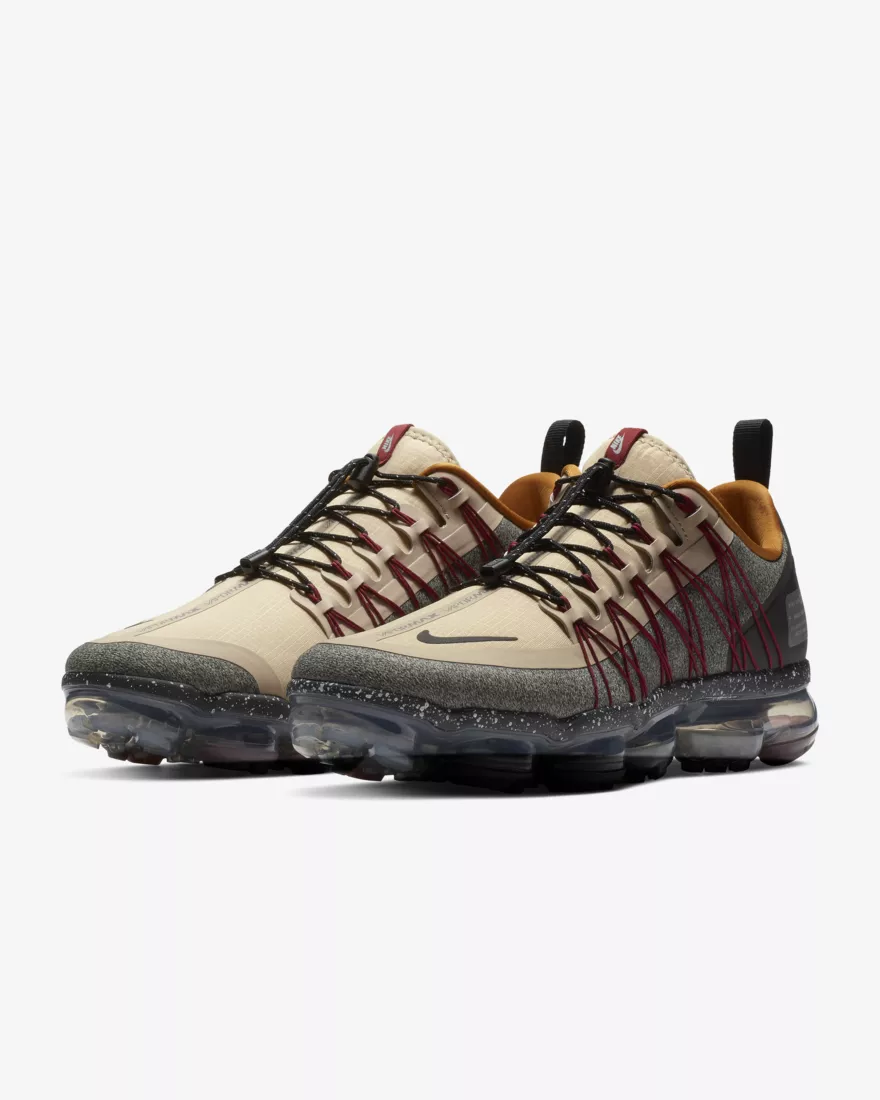 Nike Air VaporMax Run Utility Men's Shoe - Desert Ore/Black/Red Crush