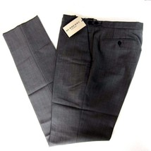 J-2209955 New Burberry Grey Flat Front Dress Pants Trousers Size US 36 - $170.99