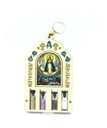 Caridad del Cobre Home Blessing Wall Hanging Decor Holy Water, Jerusale... - $14.88