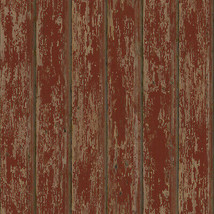 Brax Red Faux Weathered Clapboards Wallpaper Sidewall Chesapeake PUR66103 - $47.99