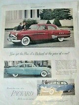 1951 Packard Patrician 200 300 & 400 Automobile Print Ad (+Stetson Ad) - $9.89