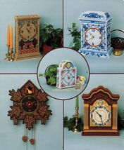 Plastic Canvas Cuckoo Boudoir Mantel Delft Bless This House Clock Patterns - $11.99