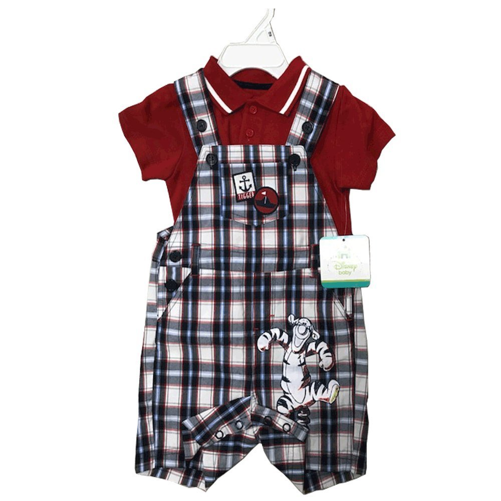 Primary image for DISNEY BABY JUMPERS 2 PIECES SET 12-24 MONTHS (18 MONTHS, TIGGER CHECKS)