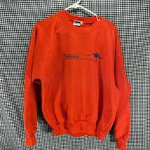 Just Australian Made in Australia Orange Crew Neck Sweatshirt Men's Size XL - $14.84