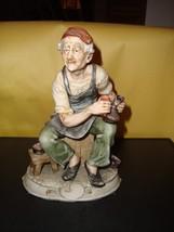 "Arnart Antonio Benni Vintage Porcelain Marked Figure Man Shinning Shoes 8"" Ex image 2"