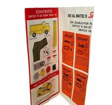Mattel Switch N Go dump truck set 1966 accessory toy part Instructions manual  - $19.30