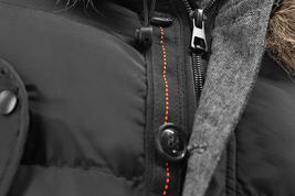 Men's Heavy Weight Warm Winter Coat Puffer Faux Fur Trim Sherpa Lined Jacket image 8