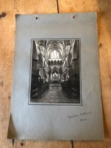 ANTIQUE/VINTAGE PHOTO OF CHOIR AT SALISBURY CATHEDRAL (ENGLAND) A4-SIZED - $6.36