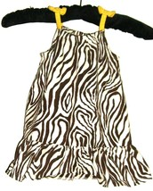 GIRL'S BROWN ZEBRA PRINT DRESS SIZE 12 M0S. - $1.98
