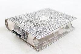 Judaica Vintage Silver Filigree Tzedakah Charity Box Book Design image 3