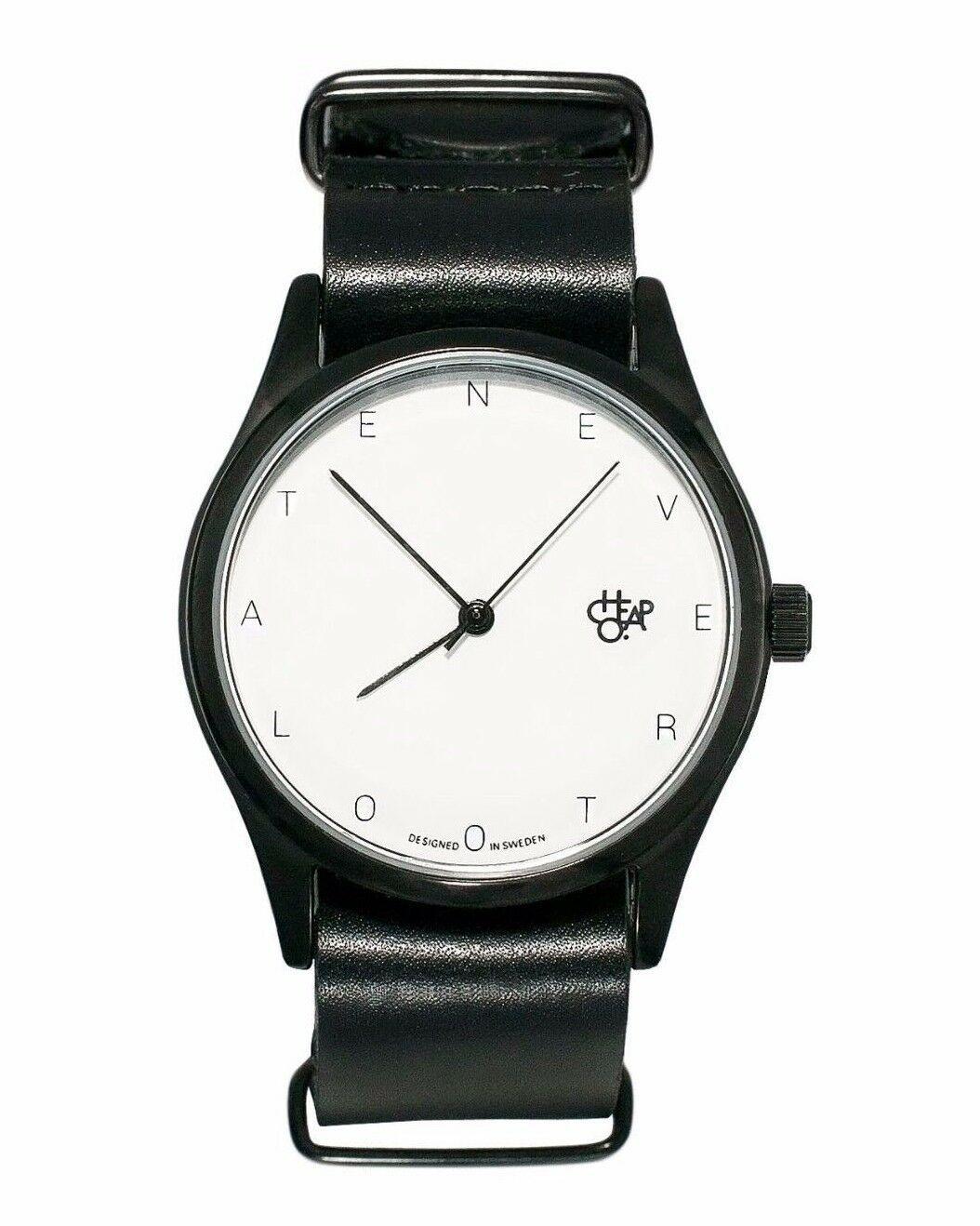 Cheapo CHPO cheapo Never Too Late Black Leather Strap 1422700 Analog Wrist Watch