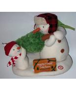 HALLMARK ANIMATED CHRISTMAS MUSICAL JINGLE PALS  2014 snowmen & pine tree - $29.69