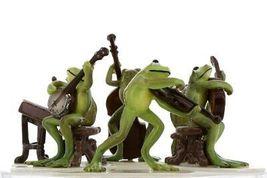 Hagen Renaker Froggy Mountain Breakdown Complete Bluegrass Frog Band 6 Piece Set image 6