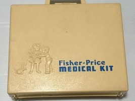 Vintage Fisher Price #936 1977 MEDICAL KIT Doctor Box Toy Nurse Play Set - $7.92