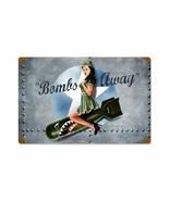 Bombs Away Pin Up Girl Metal Sign by Ralph Burch - $29.95