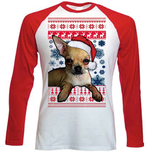 Santa Chihuahua Ginger Christmas - LONG SLEEVES COTTON TSHIRT - $19.53