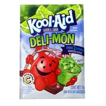Kool-Aid Deli-Mon Unsweetened Drink Mix 15g (10 Pack) Ex. Flavor from Mex. - $14.84