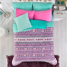 LIMITED EDITION MANHATTAN DREAM TEENS GIRLS BLANKET WITH SHERPA TWIN - $54.44