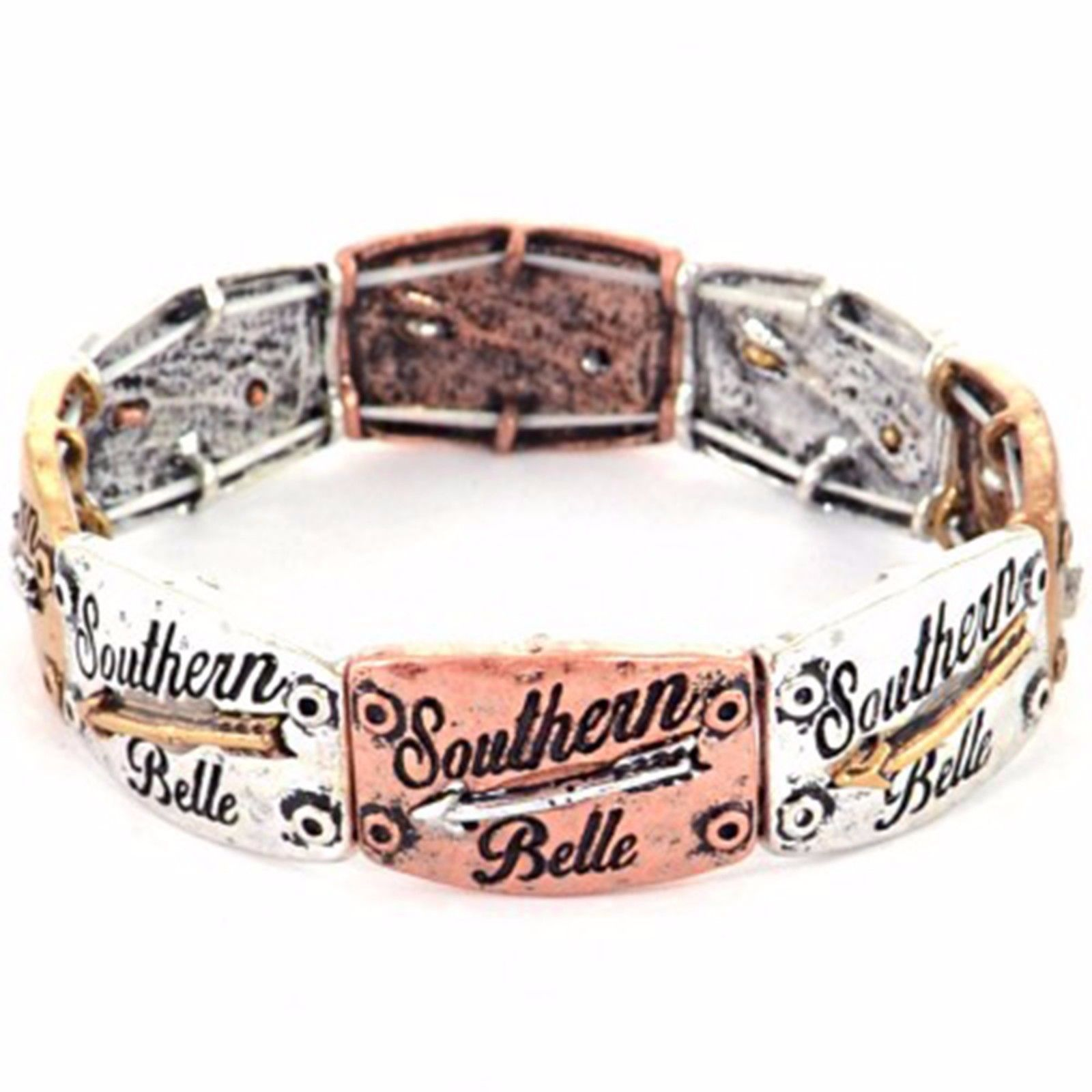 Southern Belle Country Decor Arrow Stretch Bracelet Western Cowgirl Multi
