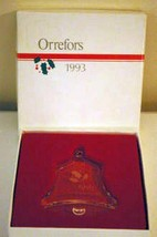 Orrefors 1993 Bell Crystal Ornament - $12.47