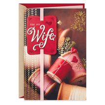 Love the Life We're Creating Valentine's Day Card for Wife With Envelope - $6.99