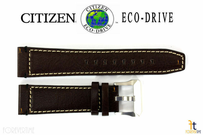 Primary image for Citizen Eco-Drive NB0070-06E 23mm Brown Leather Watch Band Strap S088607