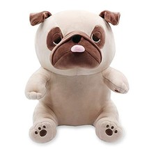 Auspicious beginning Pug Dog Plush, Stuffed Pug Puppy Soft Cuddly Animal Toy Plu - $22.66